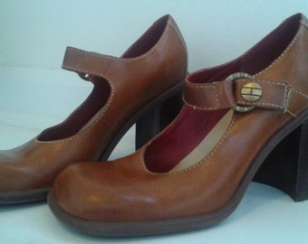 Rare Vintage 70's Tommy Hilfiger Mary Janes Chunky Heel