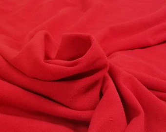 Pale Red Rayon French Terry