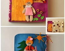 Dollhouse Quiet Book/ 10 pages/ Felt Quiet Book/ Busy Book/ Handmade/ Travel Toy/Personalized busy book/ Made to order