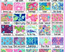 Lilly Pulitzer Vinyl Monogram Stickers | Great Quality!