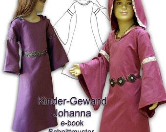 Schnittmuster e-book Mittelalterkleid für Mädchen pattern Medieval dress