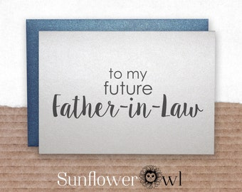 To my future father in law on our wedding day wedding thank you card father in law, mother in law, to my parents on my wedding day