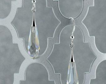 Silver Shade Crystal Drop Earrings - E2523