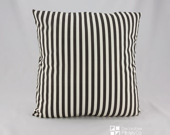 SHIPS TODAY!* Black Stripes Throw Pillow covers, Black Stripes Decorative Pillow Cover, Black and Beige Stripes