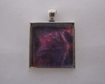 Crab Nebula Space Pendant Necklace