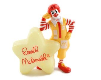 1988 Ronald McDonald Glow in the Dark Star McDonald's Happy Meal Toy Vintage