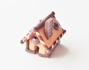 Miniature Gingerbread House | 1:12 Scale Dollhouse Cake