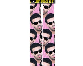 Drizzy Pink Tube Socks