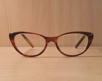 Vintage 1950's American Optical Tortoise Cateye Eyeglasses Frames, Eyeglass Frames, New Old Stock