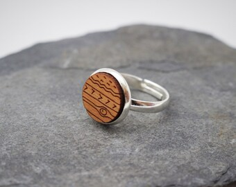 Wooden Planet Ring