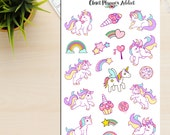 Colourful Unicorns Planner Stickers (S-121)