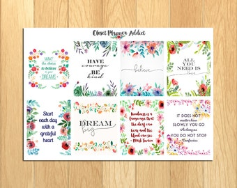 Motivational & Inspirational Quotes Planner Stickers (MS-002)