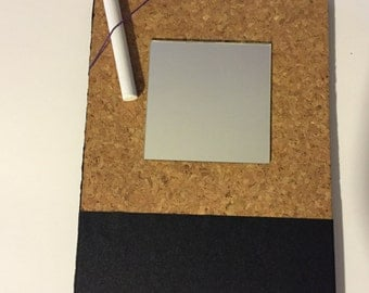 Magnetic Mirror, Chalk Board and Cork Board Locker Accessory