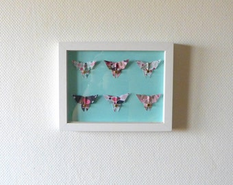 """Child frame Butterfly Origami """"Plant"""" wall decor room baby and child"""
