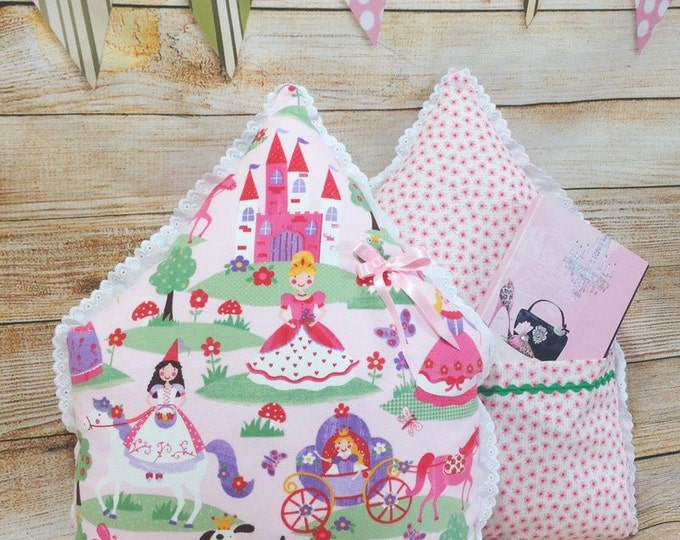 Fairy Pillow, Baby Pillow, Nursery Decor, Princess Pillow, Castle, Baby Shower, Kids room Decoration, Baby Pillow, Sewn toys