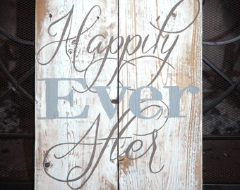 Happily Ever After White Washed 16x10 Barn Wood