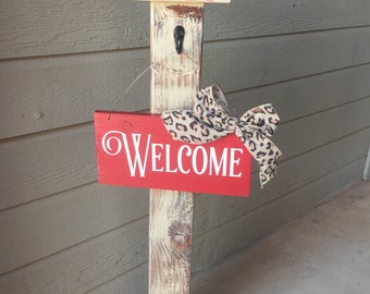 Porch Post, Sign Post, Welcome Post, Decorative Sign Post,  Decorative Sign Post, Porch Decor, Welcome Sign,