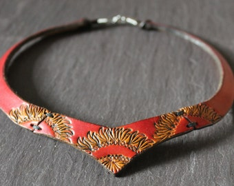 Torc Necklace Handmade/Leather Torc