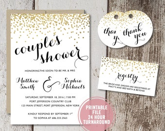 coed bridal shower | etsy, Wedding invitations
