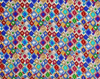 """43"""" Wide Indian Fabric Designer Print Craft Fabric Dressmaking Material Fabric Sewing Fabric Sewing Apparel Cotton Fabric By 1 Yard ZBC7927A"""