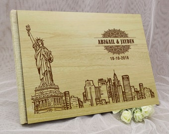 Wedding Guest Book, Personalized Wedding Guest Book, Wood Wedding Guest Book, Guest Book Wedding, Custom Guestbook, Guest Book GB73