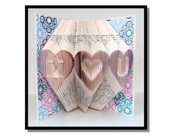 Folded Book Art: I Heart U
