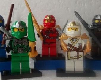Ninjago Mini Figures Jay,Kai,Cole,Lloyd & Zane Fits All Lego Sets