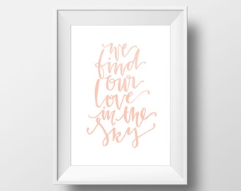 Weeknd Love In The Sky Lyrics Print
