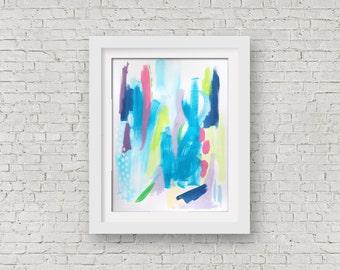 "Modern, Contemporary Art, Abstract Art, Home Decor, Acrylic on Paper, Art, Abstract, 11 x 14"", Original Art"