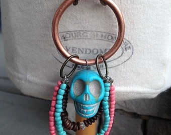 Day of the Dead Inspired Skull Necklace