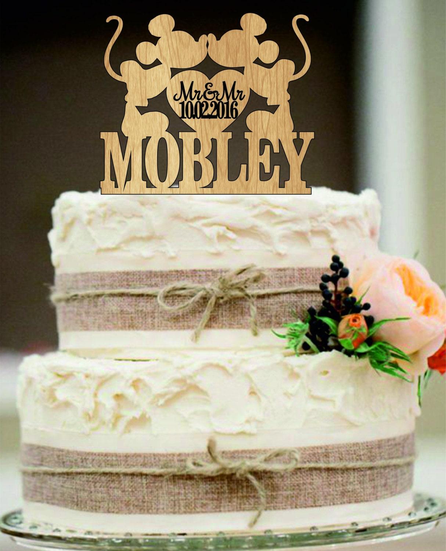 Mickey And Cake Topper Gay Wedding Same