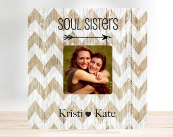 SUMMER SALE Friend Gift Best Friend Soul Sister Personalized  Picture Frame Sister Gift Personalized Picture Frame