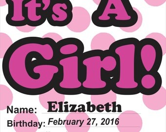 It's A Girl Yard Sign// It's A Boy Yard Sign// Baby Announcement// Baby Shower Decoration