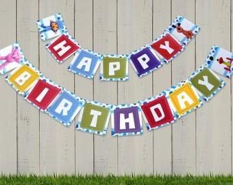 Pocoyo Happy Birthday Banner - Customizable