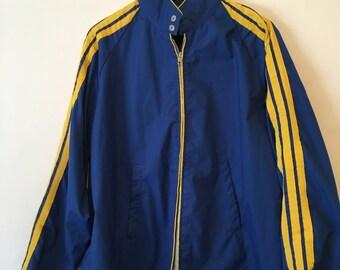 Vintage 80s SWINGSTER Light Weight Zip Up Blue Jacket Size XLarge