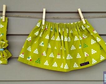 Skirt & headband - together - daughter - printed geometric