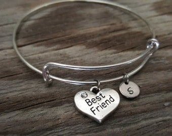 Best Friend Bangle Bracelet - Friend Gift - Friend Jewelry - Best Friend Gift - Bestie Gift - BFF Gift - I/B