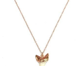 Shark necklace - Gold rose