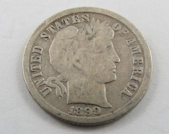 U.S. 1899O  Barber or Liberty Head Dime.