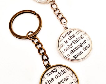 Hunger Games keychain - Customized keychain - May The Odds Be Ever in Your Favor keychain - Hunger Games Quote keychain