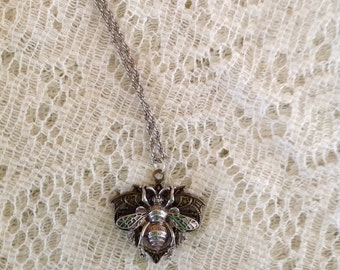 Bee Pendant Necklace, Bumble Bee Necklace, Bumble Bee, Bee