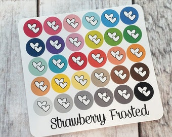 Hearts----Multicolor Icon Labels---Planner Stickers