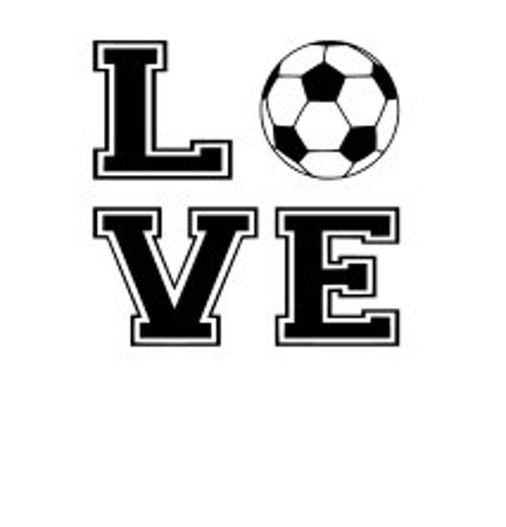 Soccer, Love, SVG File.  For Silhouette or Cricut Machines.  For use with HTV, Oracle 631/651, Paper cutter file