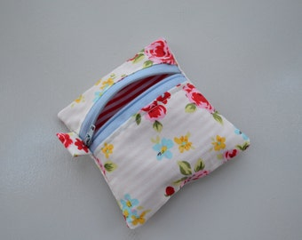 Flowers and Stripes Coin Pouch