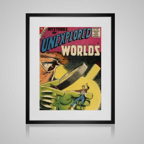 Classic Comic Book Cover Art ~ Framed wall art vintage comic book cover by picturebypicture