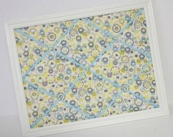 Happiness ~ Joyful Garden fabric ~ Framed Memo Board  **SALE**