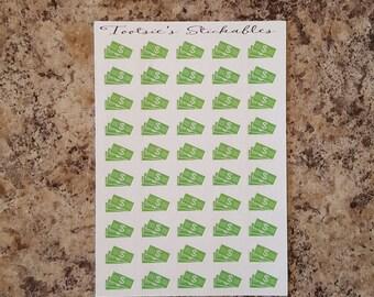Dollar Bills Stickers (Set of 50)
