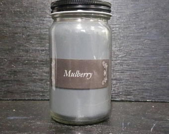 8oz Mulberry Scented Hommade Hand Poured Soy Wax Candle