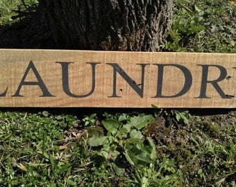 Laundry Sign Repurposed Wood Sign Laundry Room Decor Housewarming Gift