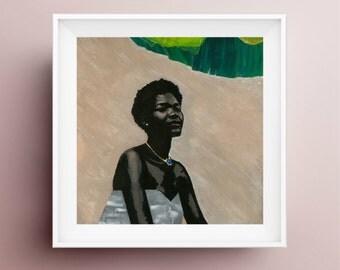 Om Shanti, 12x12 Print, Painting